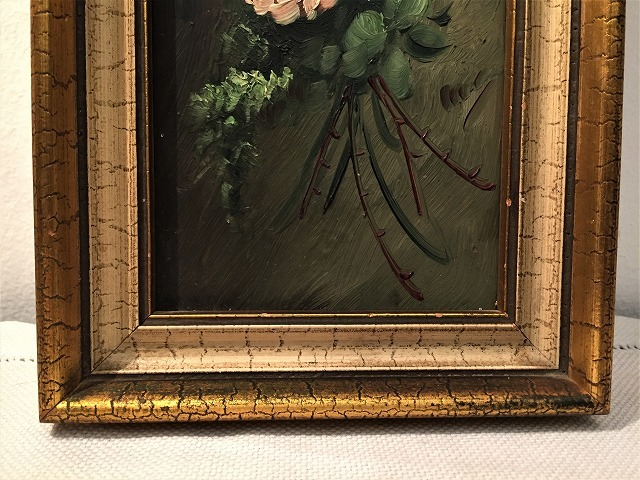 オリジナル油絵「バラ」2枚セット_f0112550_06343263.jpg
