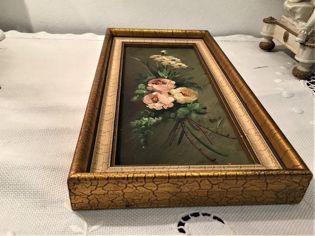 オリジナル油絵「バラ」2枚セット_f0112550_06343267.jpg