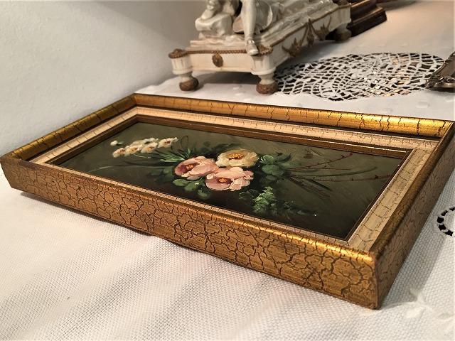 オリジナル油絵「バラ」2枚セット_f0112550_06343282.jpg