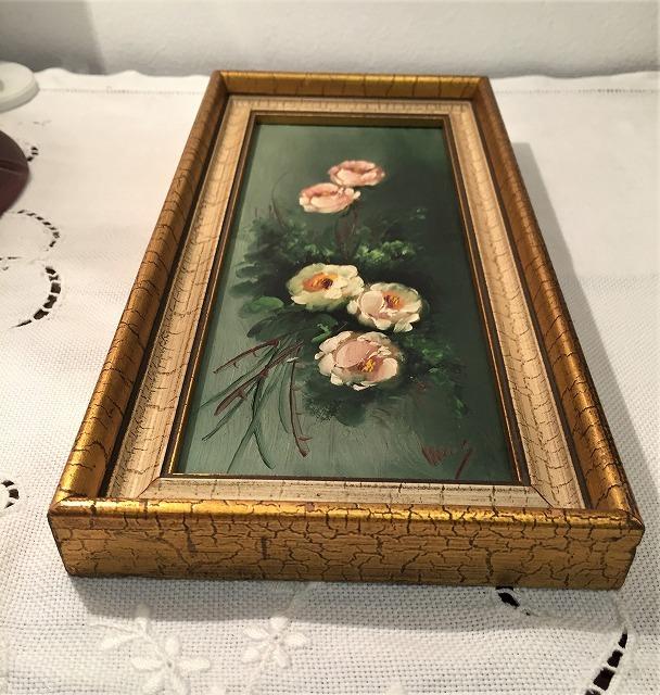 オリジナル油絵「バラ」2枚セット_f0112550_06381563.jpg