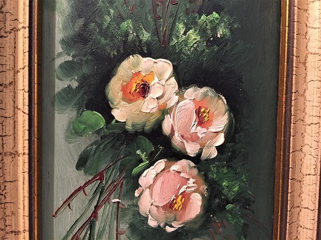 オリジナル油絵「バラ」2枚セット_f0112550_06381625.jpg