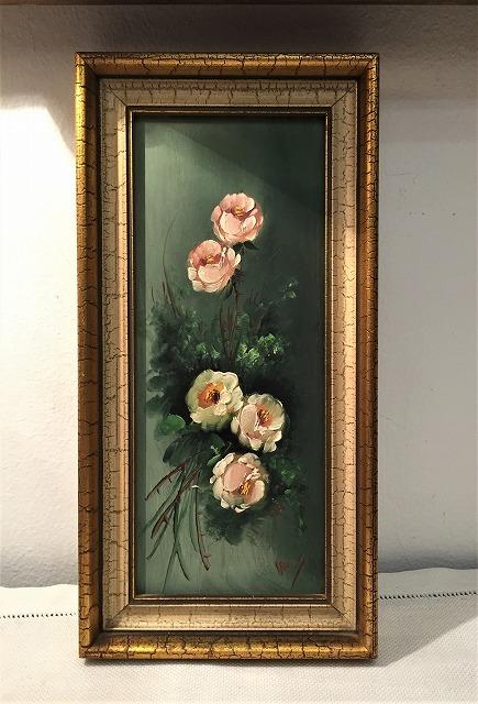 オリジナル油絵「バラ」2枚セット_f0112550_06381643.jpg