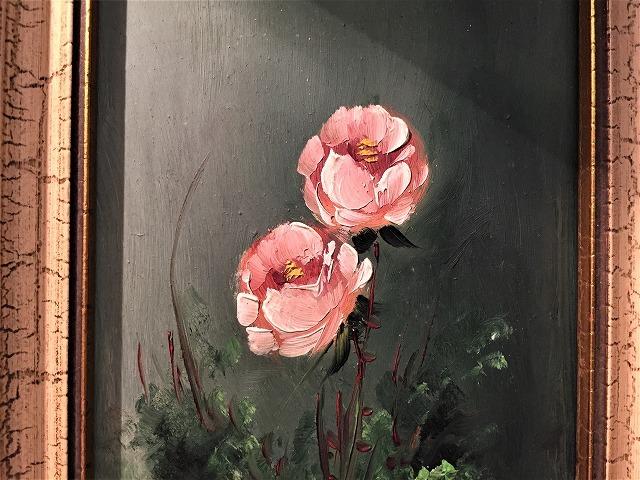 オリジナル油絵「バラ」2枚セット_f0112550_06381647.jpg