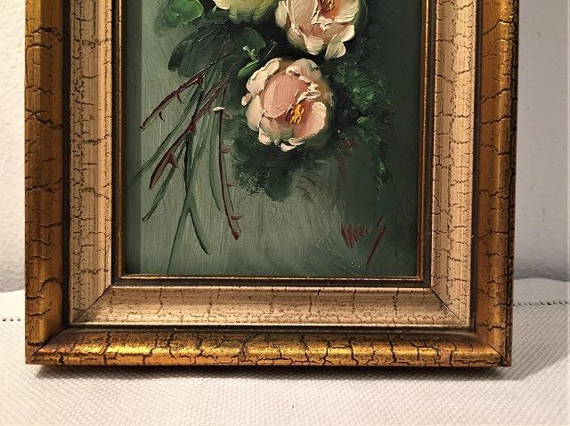 オリジナル油絵「バラ」2枚セット_f0112550_06381662.jpg