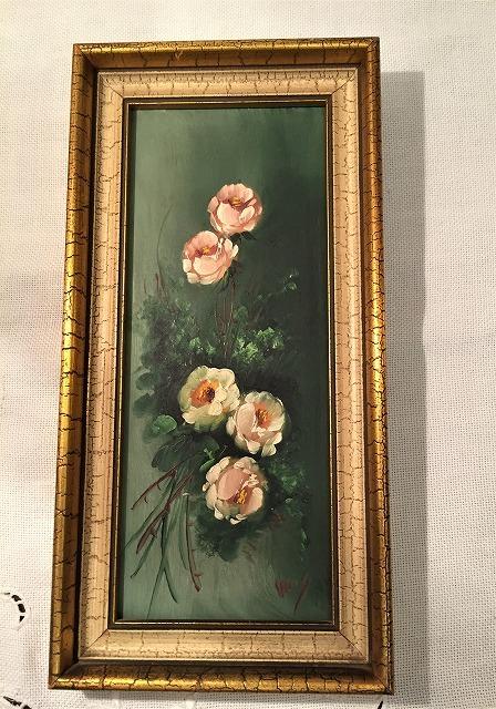 オリジナル油絵「バラ」2枚セット_f0112550_06381682.jpg