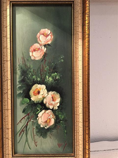 オリジナル油絵「バラ」2枚セット_f0112550_06381699.jpg