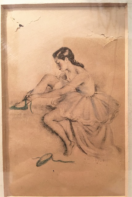 リトグラフ「バレリーナ」入り木製黒額957_f0112550_06460902.jpg