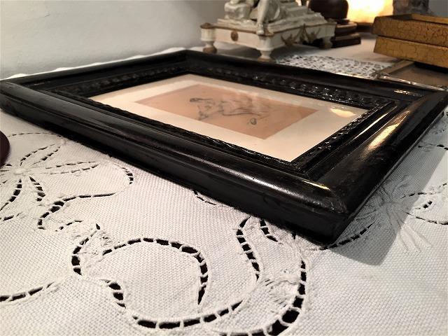 リトグラフ「バレリーナ」入り木製黒額957_f0112550_06461063.jpg