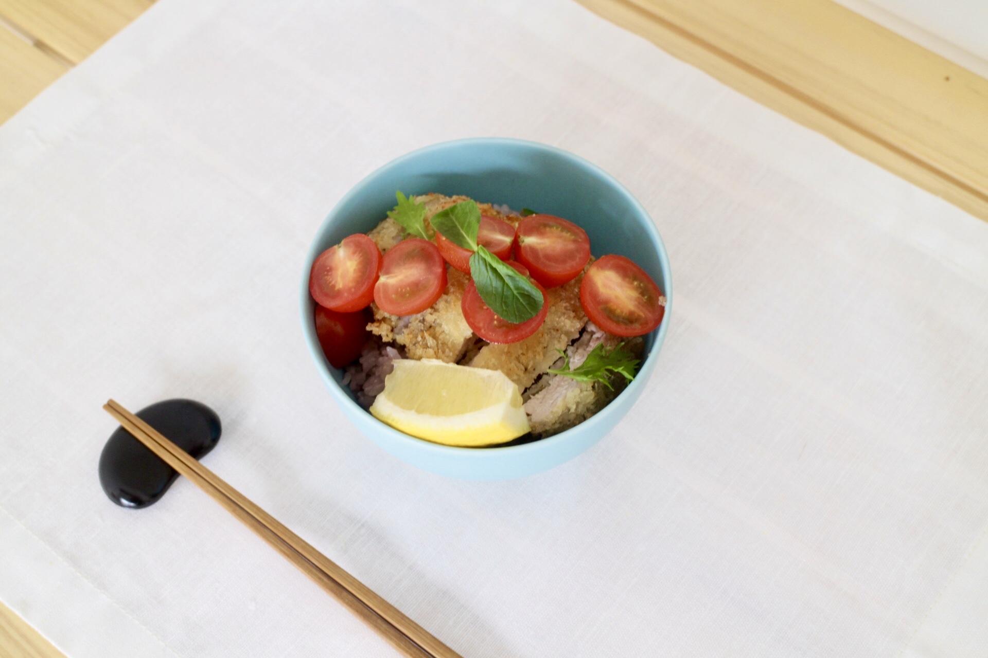 カツレツトマト丼_f0220354_13191968.jpeg