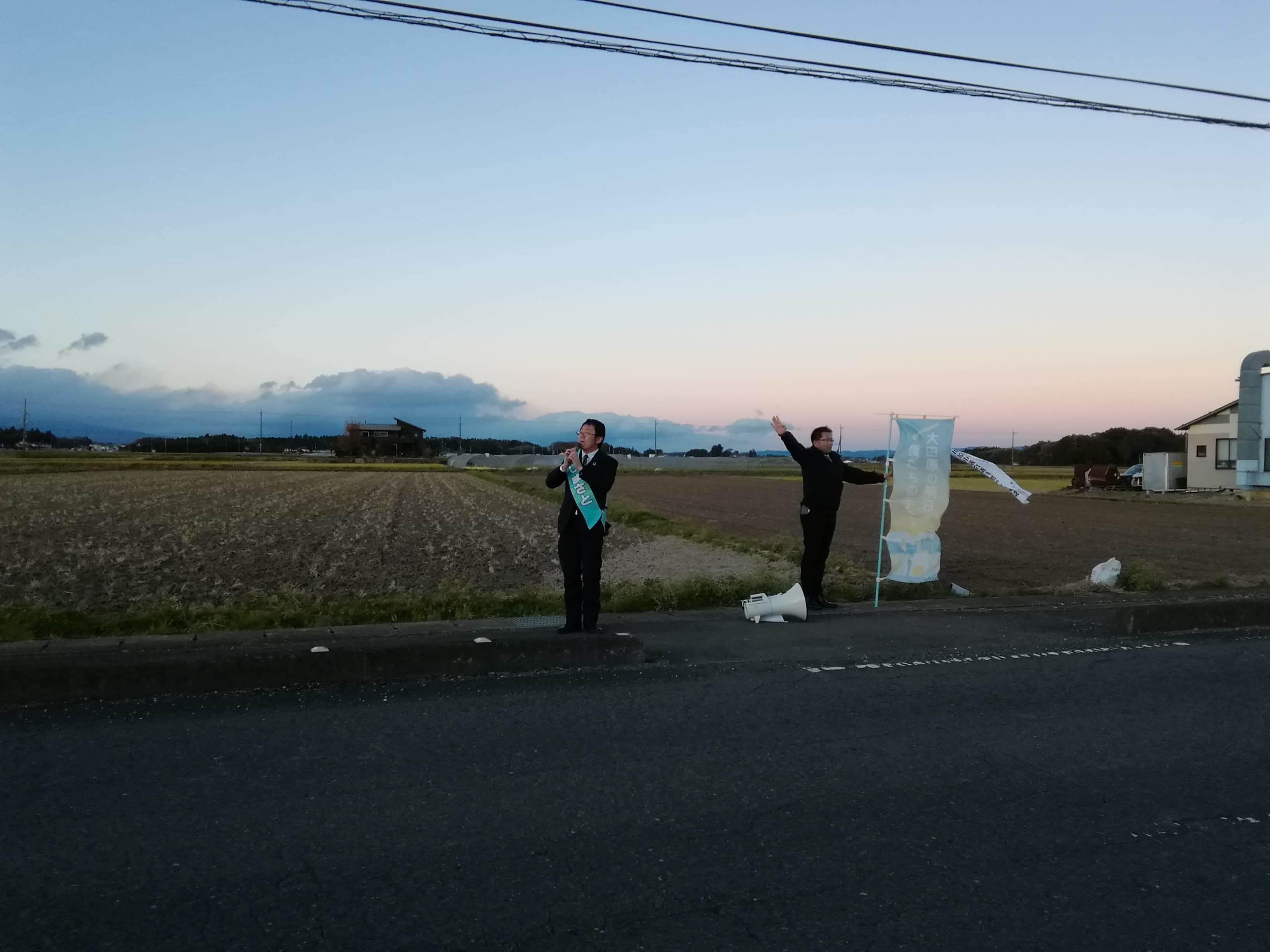 選挙戦5日目…黒羽、野崎_b0063162_00120752.jpg