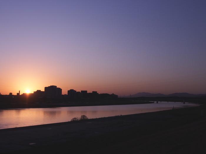 夕暮れの筑後川_a0149488_232204.jpg