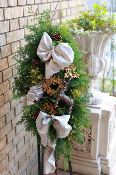 クリスマスレッスンはじまりました。生花~_c0156595_12075792.jpg