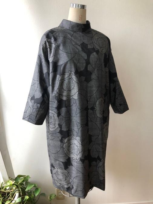 着物着物リメイク・ 大島紬からシンプルワンピース_d0127925_14454171.jpg