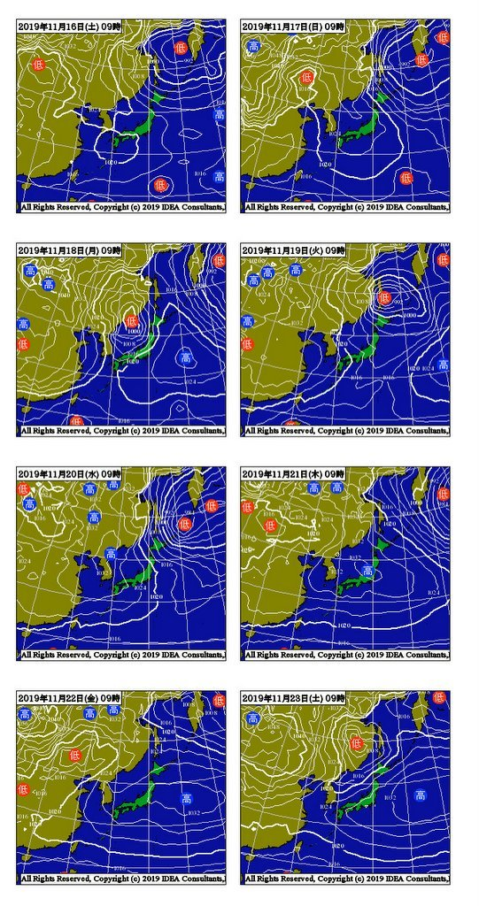 気象庁1ヶ月予報(2019年11月14日発表)_e0037849_06110490.jpg