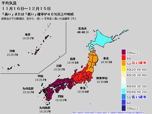 気象庁1ヶ月予報(2019年11月14日発表)_e0037849_06204926.png