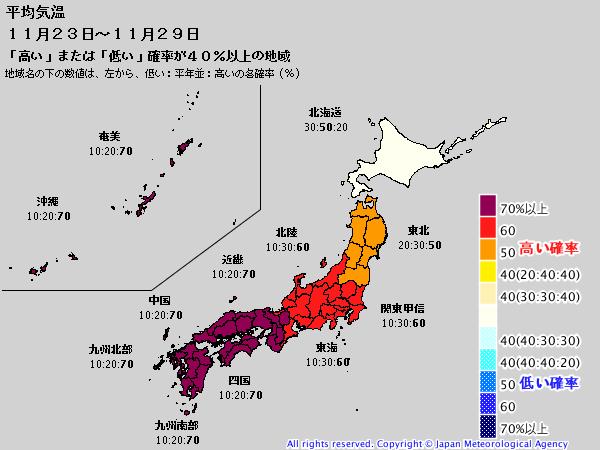 気象庁1ヶ月予報(2019年11月14日発表)_e0037849_06204985.png