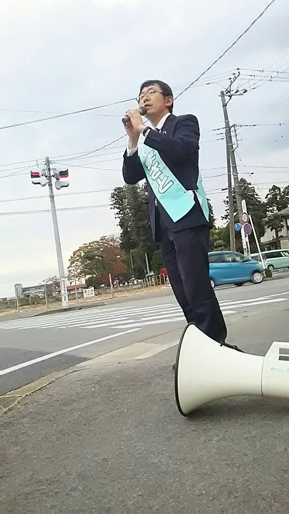 選挙戦最終日…大田原市街:400号一周:街頭演説_b0063162_21594532.jpg