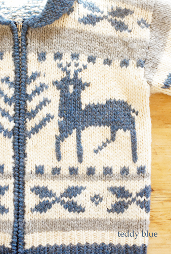 Cowichan sweater in blue  ブルーのカウチン_e0253364_18305716.jpg