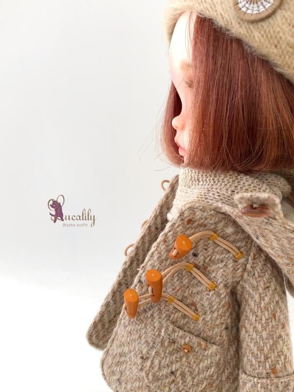 * lucalily * dolls clothes * Tweed duffel coat set *_d0217189_17131181.jpg