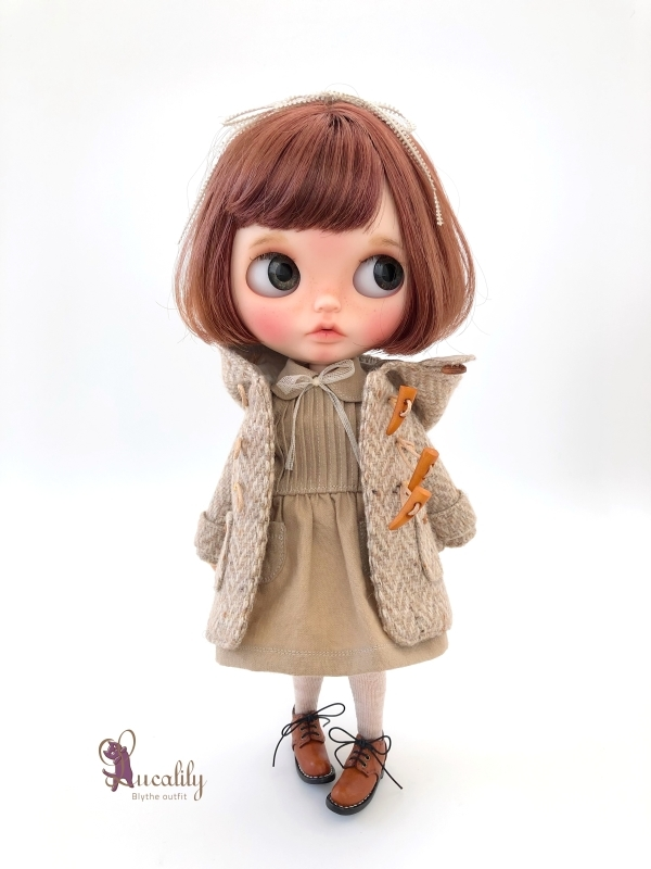 * lucalily * dolls clothes * Tweed duffel coat set *_d0217189_17131347.jpg