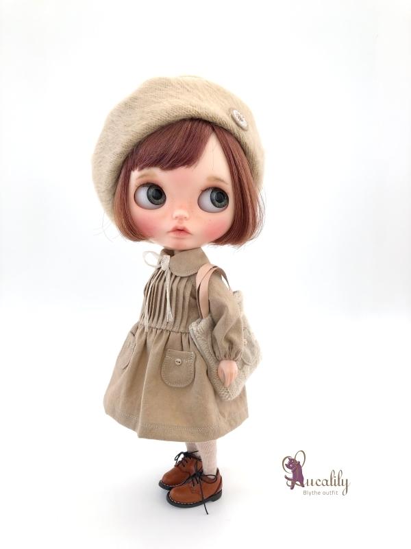 * lucalily * dolls clothes * Tweed duffel coat set *_d0217189_17131739.jpg