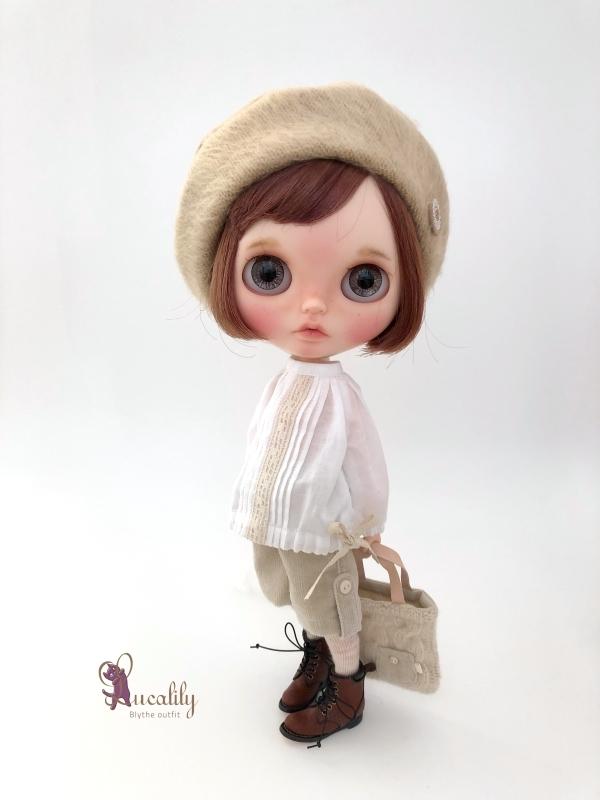 * lucalily * dolls clothes * Tweed duffel coat set *_d0217189_17131906.jpg