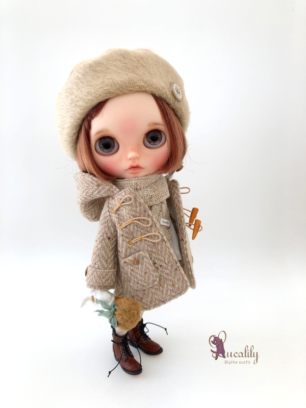 * lucalily * dolls clothes * Tweed duffel coat set *_d0217189_17131990.jpg