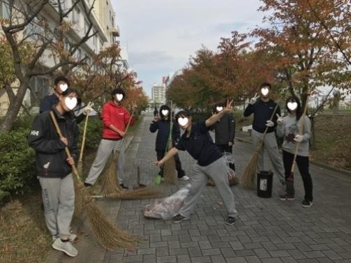学生と合同清掃の日_a0346704_21092659.jpg