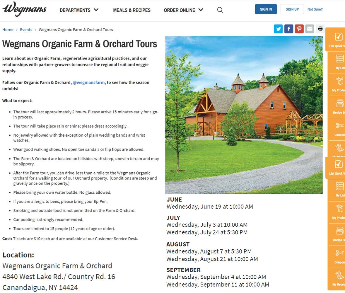 ウェグマンズの小麦農園ツアーや、ショッパーズ・クラブ会員情報_b0007805_09433818.jpg