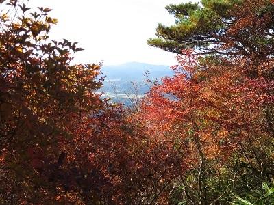 ニツ箭山と下界の紅葉_b0369813_06294136.jpg