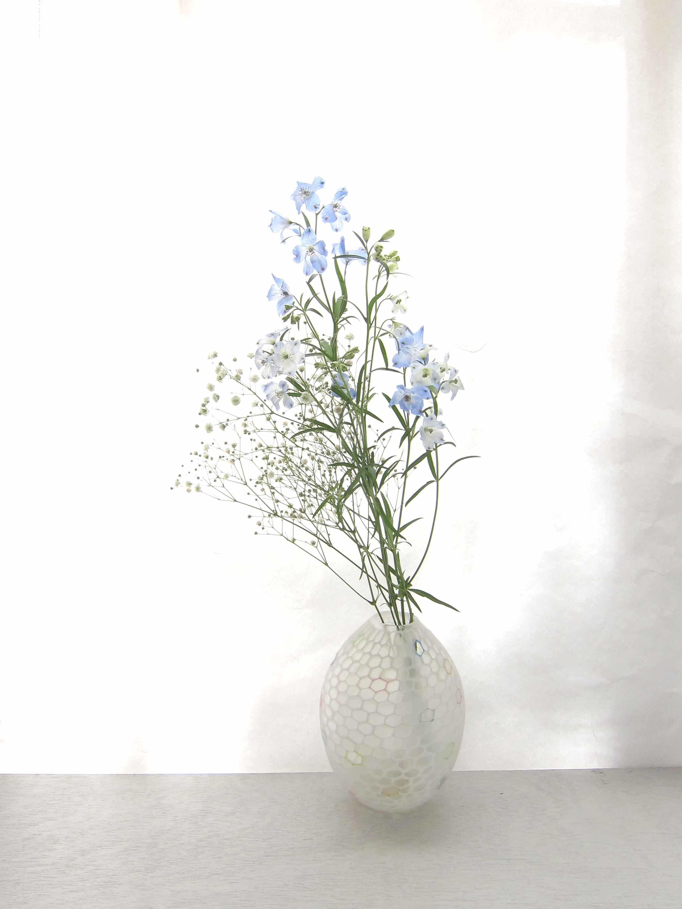 雪展 吉村桂子さんのイロアミ花器など_b0353974_23305844.jpg