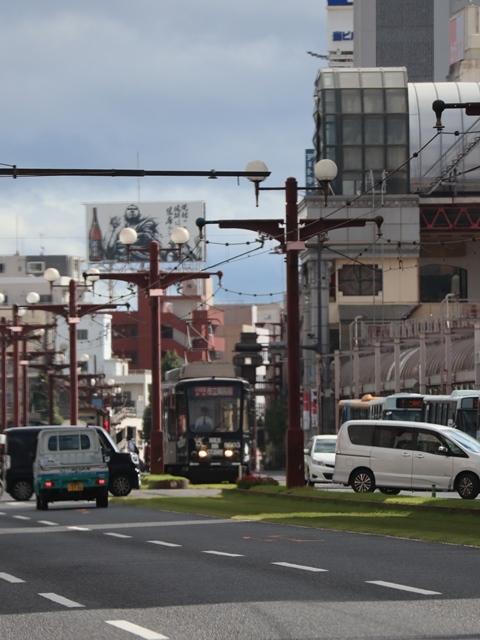 藤田八束の路面電車写真@鹿児島市電の路面電車、谷山駅から西鹿児島駅までの鹿児島市内を走ります。観光に最適な路面電車、ラッピングが楽しい路面電車_d0181492_23353196.jpg
