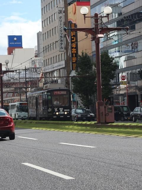 藤田八束の路面電車写真@鹿児島市電の路面電車、谷山駅から西鹿児島駅までの鹿児島市内を走ります。観光に最適な路面電車、ラッピングが楽しい路面電車_d0181492_23355966.jpg
