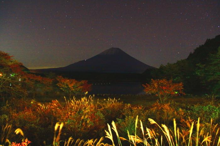 令和元年11月の富士(8)精進湖夜の富士_e0344396_16161844.jpg