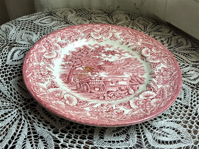 英国製ローズ色柄中皿48 sold out!_f0112550_05541322.jpg