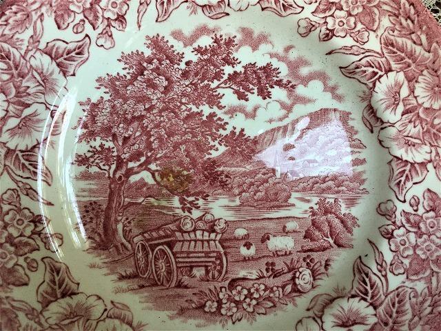 英国製ローズ色柄中皿48 sold out!_f0112550_05541330.jpg