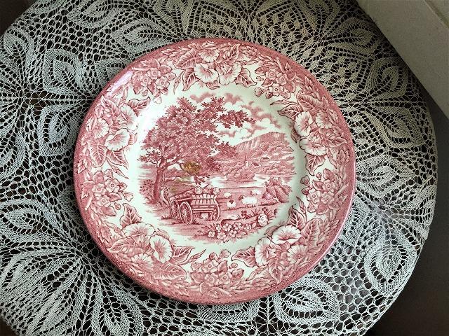 英国製ローズ色柄中皿48 sold out!_f0112550_05541449.jpg
