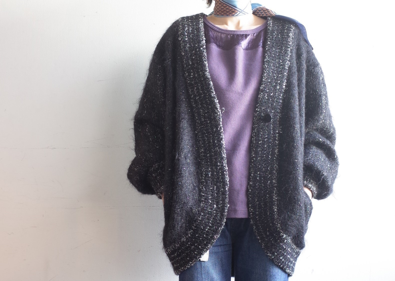 From Vintage Room☆シルバーラメMohair Knit Cardigan☆_e0269968_13440540.jpg