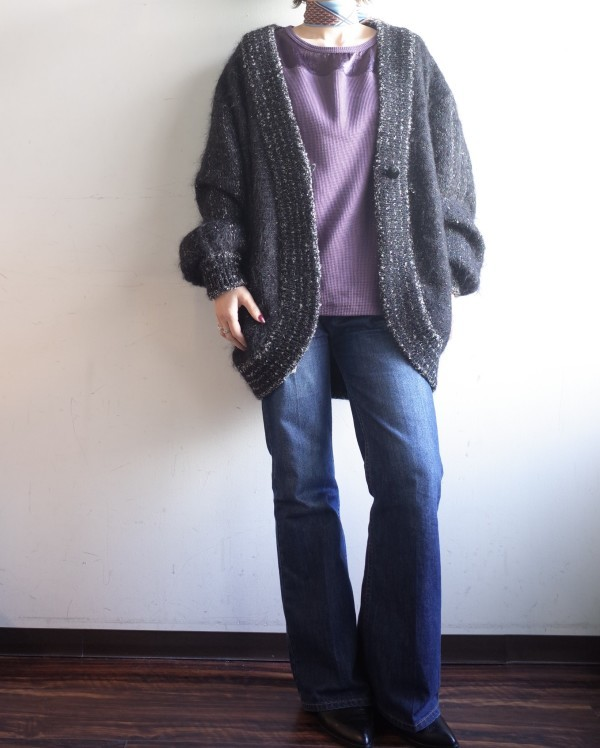 From Vintage Room☆シルバーラメMohair Knit Cardigan☆_e0269968_13440972.jpg