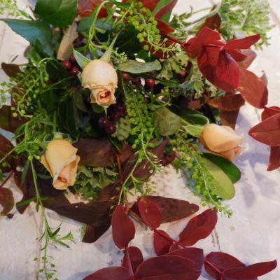 オークリーフ花の教室(赤地さんと宮原さんの作品)_f0049672_19180976.jpg