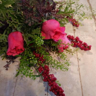 オークリーフ花の教室(赤地さんと宮原さんの作品)_f0049672_19181673.jpg