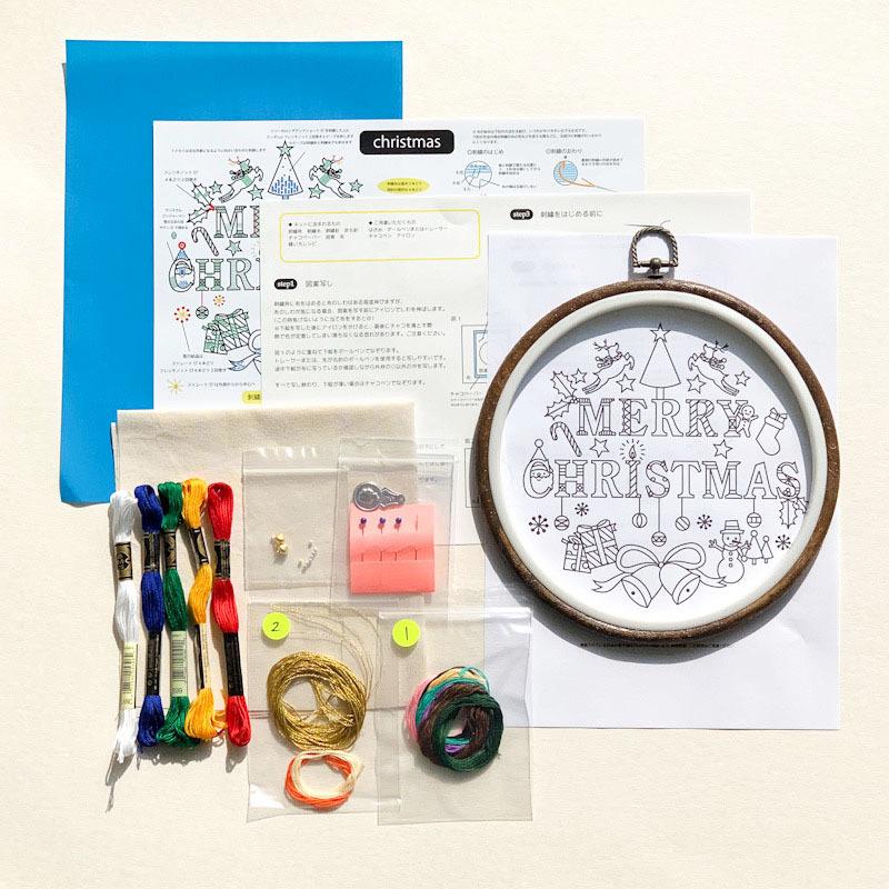 クリスマスキット刺繍の会(キットを使ったws)_f0327104_23463419.jpg