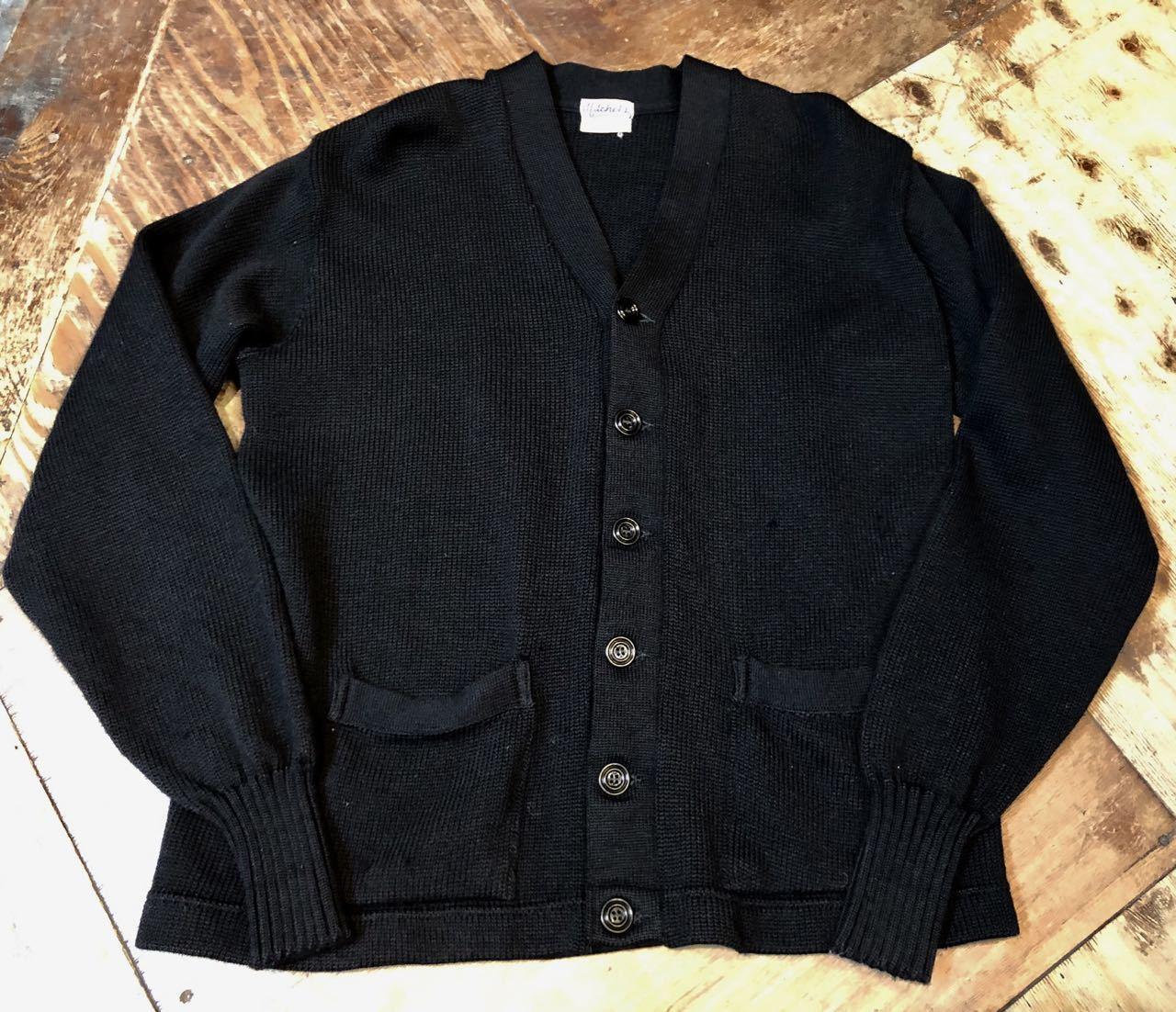 11月21日(木)入荷!50s ビンテージ all wool ブラックカラー カーディガン_c0144020_14022518.jpg