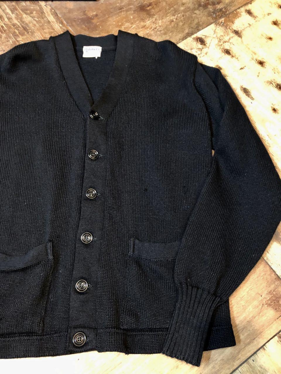 11月21日(木)入荷!50s ビンテージ all wool ブラックカラー カーディガン_c0144020_14022756.jpg