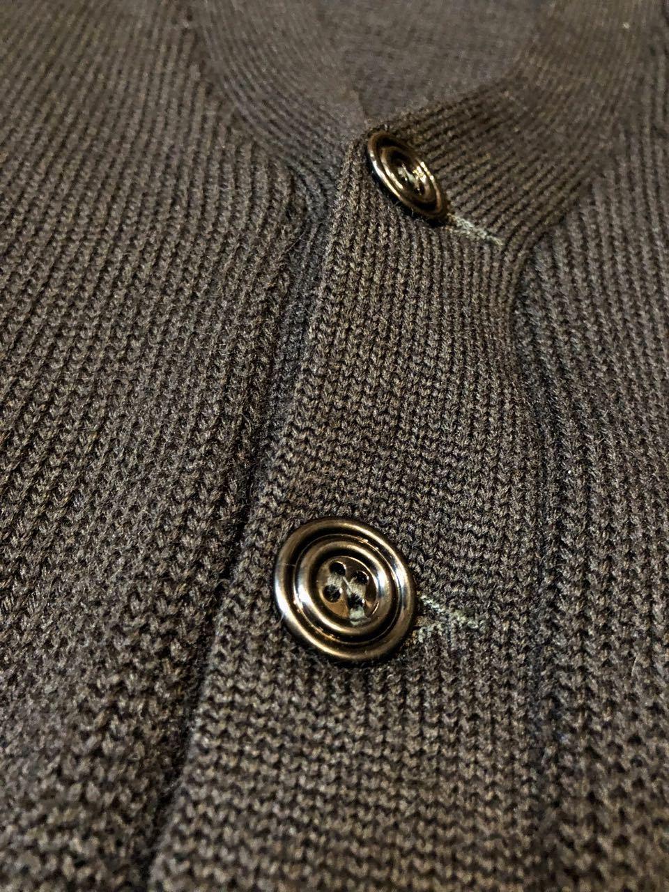 11月21日(木)入荷!50s ビンテージ all wool ブラックカラー カーディガン_c0144020_14022785.jpg