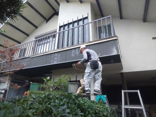 K様邸(佐伯区楽々園)ベランダ改修&外壁塗装工事_d0125228_08294848.jpg