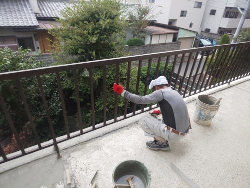 K様邸(佐伯区楽々園)ベランダ改修&外壁塗装工事_d0125228_08295379.jpg