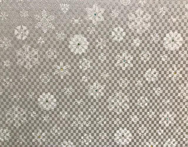 商品紹介・雪だるま染帯と雪の結晶小紋・Xmas以外にも。_f0181251_19064389.jpg