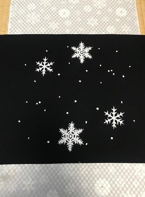商品紹介・雪だるま染帯と雪の結晶小紋・Xmas以外にも。_f0181251_19100612.jpg