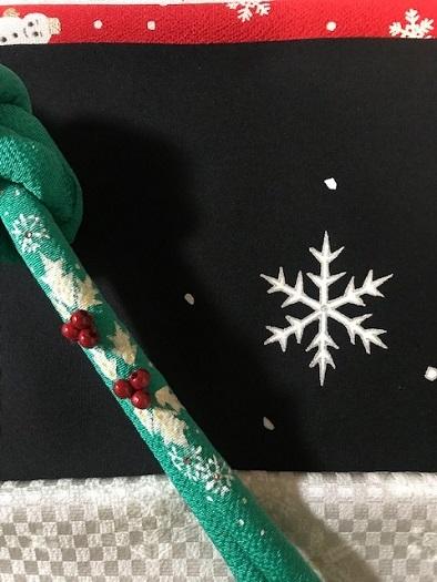 商品紹介・雪だるま染帯と雪の結晶小紋・Xmas以外にも。_f0181251_19140918.jpg